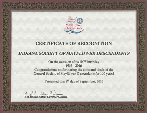 indiana society of mayflower descendants